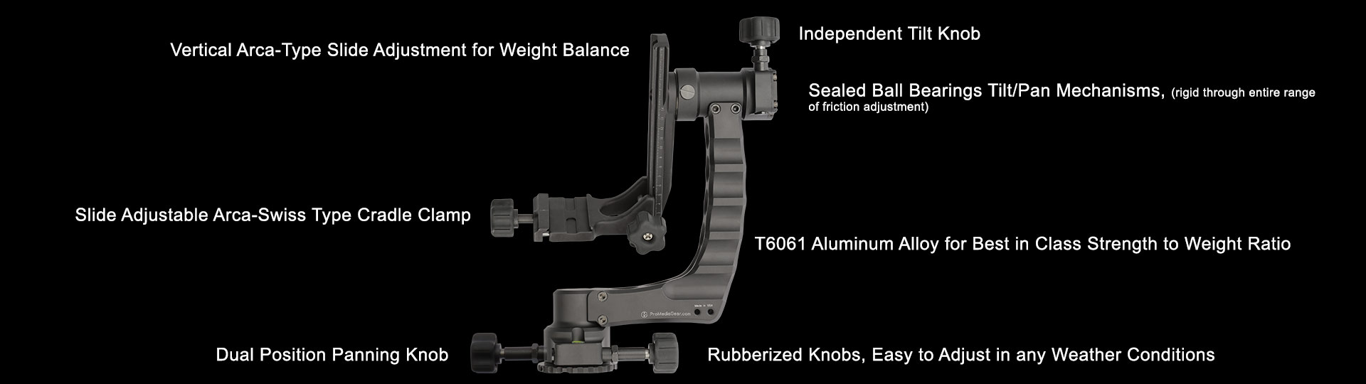 Gimbal Head for Tripods